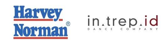 Harvey Norman and Intrepid Dance Company Logos